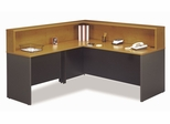 Reception Desk Set - Series C Natural Cherry Collection - Bush Office Furniture - WC72424-36-76