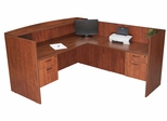 Reception Desk w/ Return and (2) BF Peds - ROF-SRDRT2BF