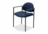 Reception Guest Chair - Blue Fabric - LLR69509