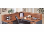 Reception L-Hutch - Series C Auburn Maple Collection - Bush Office Furniture - WC48576