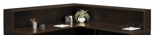 Reception L-Hutch - Series C Mocha Cherry Collection - Bush Office Furniture - WC12976