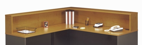 Reception L-Hutch - Series C Natural Cherry Collection - Bush Office Furniture - WC72476