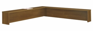 Reception L-Hutch - Series C Warm Oak Collection - Bush Office Furniture - WC67576