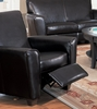 Recliner in Dark Brown Leather - Coaster
