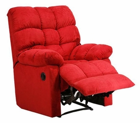 Recliner in Microfiber Crimson - Handy Living - RCL1-AAA47