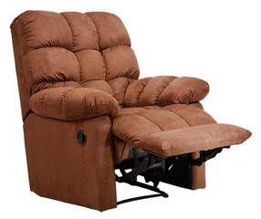Recliner in Microfiber Dark Brown - Handy Living - RCL1-AAA89