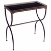 Rectangular Black X-Leg Accent Table - IMAX - 12004