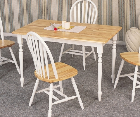 Rectangular Dining Table in Natural / White - Coaster