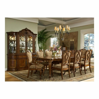 Rectangular Dining Table with Buffet, Hutch, 2 Arm and 6 Side Chairs - Largo - LARGO-WG-D121A-31-SET