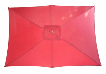 Rectangular Market Umbrella in Autumn Red - 53559