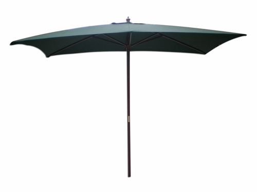 Rectangular Market Umbrella in Hunter Green - 61316