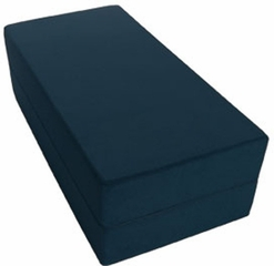 Rectangular Modular Beanbag Seating in Suede Navy - Jaxx Bean Bags - 10978117