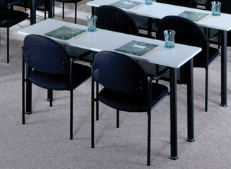 Rectangular Table in Folkstone - Mayline Office Furniture - 1872REFLKBLK