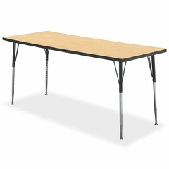 Rectangular Tables - Natural Maple/black - HONESR3072LDP