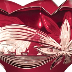 Red Floral Bowl - Dale Tiffany - GA80586