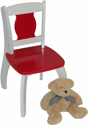 Red Kids Bow Leg Chair