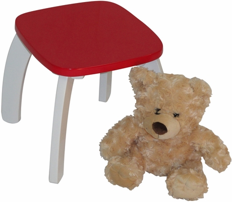 Red Kids Bow Leg Stool