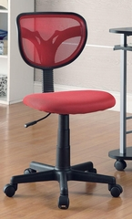 Red Mesh Adjustable Height Task Chair - 800055R