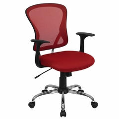 Red Mesh Executive Office Chair - H-8369F-RED-GG