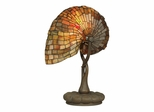 Red Nautilus Table Lamp - Dale Tiffany