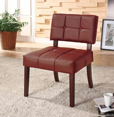 Red PU Side Chair - Ezrela - 10086