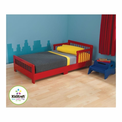 Red Slatted Toddler Cot - KidKraft