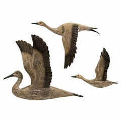 Reeds Migration Wood Wall Décor (Set of 3) - IMAX - 50895-3
