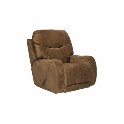 Reflections Chaise Rocker Recliner in Walnut - Catnapper