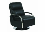 Regal ll Stargo Black Recliner with Chrome Arms - 44010545113