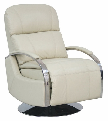 Regal ll Stargo Cream Recliner with Chrome Arms - 44010545111