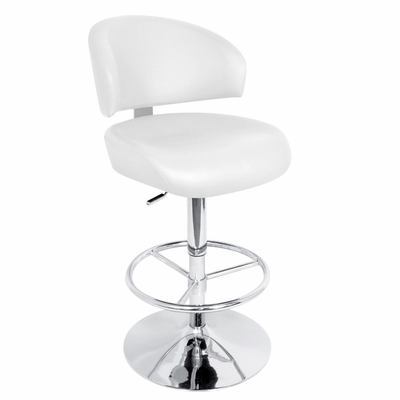 Regent Barstool White - LumiSource - HJ-REGENT-W