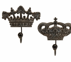Regent's Crown Hooks (Set of 4) - IMAX - 12853-4