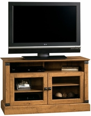 Registry Row Panel TV Stand Amber Pine - Sauder Furniture - 412268
