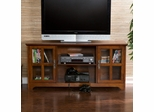 Remington Media Stand in Mission Oak - Holly and Martin