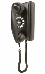 Retro Phone - 302 Wall Phone - Black - Crosley - CR55-BK