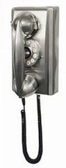 Retro Phone - 302 Wall Phone - Brushed Chrome - Crosley - CR55-BC
