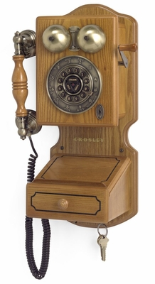 Retro Phone - Country Kitchen Phone in Oak - Crosley - CR92