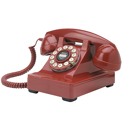 Retro Phone - The Crosley 302 Desk Phone - Red - Crosley - CR60-RE