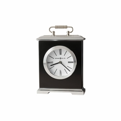 Revere Carriage Table Clock in Black - Howard Miller