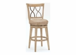Reydon Swivel Stool in Distressed Whitewash - Hillsdale