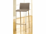 Ribbed Bar Height Stool with Wide Bowed Legs - Set of 2 - 120900