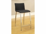 Ribbed Counter Height Stool with Wide Bowed Legs - Set of 2 - 120889