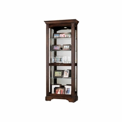 Ricardo Traditional Curio Cabinet in Cherry - Howard Miller