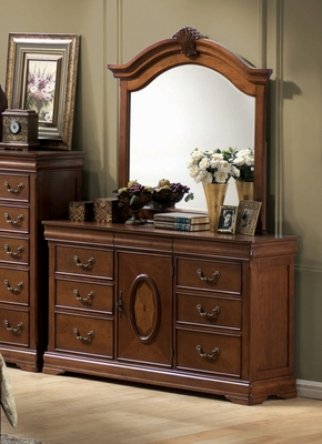 Richardson Dresser with Mirror in Rich Caramel - Coaster - 200483-84-SET