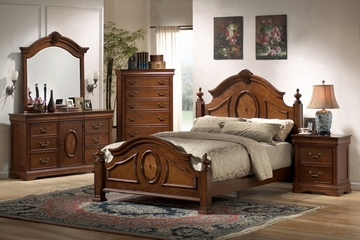 Richardson Queen Size Bedroom Furniture Set in Rich Caramel - Coaster - 200481Q-BSET