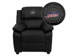 Richmond Spiders Embroidered Black Leather Kids Recliner - BT-7985-KID-BK-LEA-45025-EMB-GG