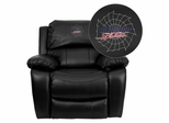Richmond Spiders Embroidered Black Leather Rocker Recliner  - MEN-DA3439-91-BK-45025-EMB-GG