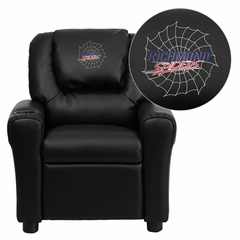 Richmond Spiders Embroidered Black Vinyl Kids Recliner - DG-ULT-KID-BK-45025-EMB-GG