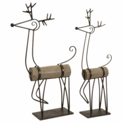 Ricky and Rita Reindeer (Set of 2) - IMAX - 59406-2