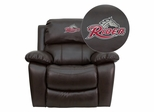 Rider University Broncos Brown Leather Recliner - MEN-DA3439-91-BRN-41065-EMB-GG